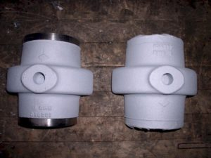 Bearing Caps - arc sprayed